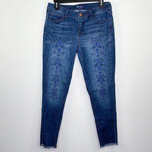 Wrangler Indigo Blue Raw Frayed Hem Jeans 7